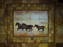 horse murals kitchen tile backsplashes of horses horses tiles
