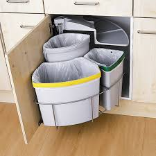 Compact Kitchen Units by Three Part Recycling Bin Recycle Pinterest Recycling Storage
