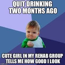Rehab Meme - success kid memes imgflip