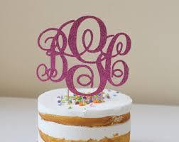 cake topper monogram monogram cake topper etsy