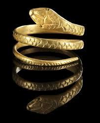 asian fallos ring holder images Golden ring in shape of a snake roman 1st century b c 1st jpg