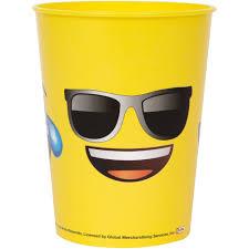emoji faces 16oz plastic stadium cup walmart com