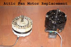 how to replace attic vent fan motor