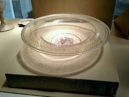 v glass bowl with enamel decoration venice italy early 16th