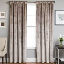 63 Inch Curtains Buy Velvet Rod Pocketback Tab 63 Inch Lined Window Curtain Panel
