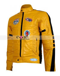 leather biker jackets for sale movie kill bill yellow leather biker jacket for sale