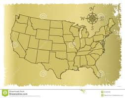 United States Of Anerica Map by Old United States Of America Map Stock Illustration Image 52339495