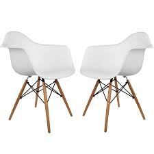 amazon com poly and bark vortex arm chair white set of 2