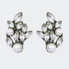 pearl clip on earrings clip on bridal earrings clip earrings wedding eveningwear