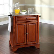 crosley alexandria natural wood top kitchen island hayneedle