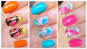 cute summer nail art designs easy tutorial youtube