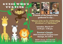 safari first birthday invitations iidaemilia com
