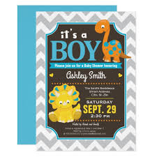 dinosaur baby shower dinosaur baby shower invitation boy zazzle