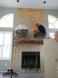 cultured stone installation on your home fireplace u2013 morton stones