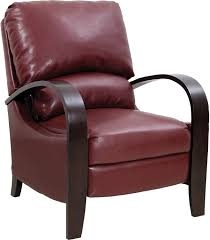 Overstock Leather Chair Aaron Red Reclining Accent Chair The Brick