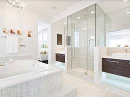 Marble Master Bathroom by Marble Master Floor Undermount Sinks Shower With Glass Door Dark