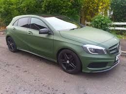green mercedes benz matte military green benz a 180 khaz customs