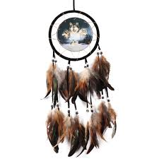 wolf home decor big size wolf eagle dreamcatcher antique imitation dream catcher