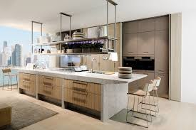charming neutral and classy modern kitchen island design with