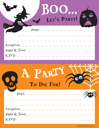 free printable halloween party invitations u2013 fun for halloween