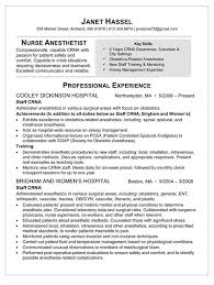Sample Comprehensive Resume For Nurses Sample Resume For Nurse Anesthetist Healthcare News Information