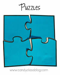 free puzzle piece template the interactive notebook template types the candy class