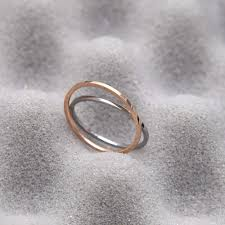 small metal rings images 1mm women 39 s plain simple wedding rings small rose gold color 316l jpg