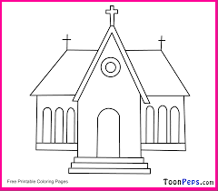church coloring pages print funycoloring