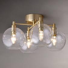 Brass Ceiling Light Buy Lewis Gloria Brass 4 Light Semi Flush Ceiling Light