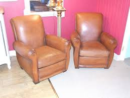 chairs vintage french leather club chairs pair of la belle