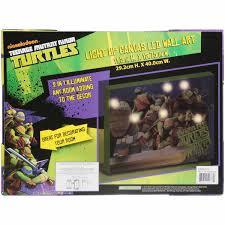 teenage mutant ninja turtles home decor nickelodeon teenage mutant ninja turtles light up canvas led