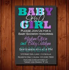 baby shower invitation it u0027s a purple and teal digital