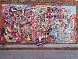 six new downtown memphis murals the artery alley project i love i love marcellous lovelace s soul color for its fun abstract style and also for its homage to memphis place in the halls of music history