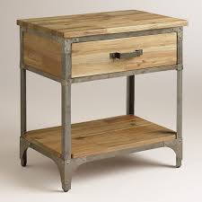 bedroom nightstand tall bedside tables with drawers modern gray