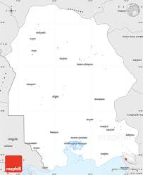 Blank Map Of The West Region silver style simple map of khuzestan