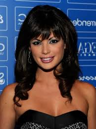 shoulder length angled bob hairstyles with side bangs for curly hair