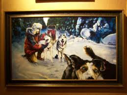 themed paintings one of the many alaska themed paintings in the lobby picture of