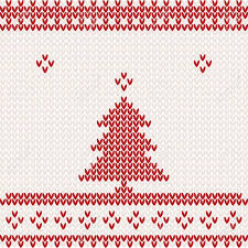 knitted background with christmas tree royalty free cliparts