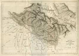 Himalayan Mountains Map Indian Subcontinent Pre 1899