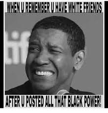 Black Power Memes - whenurememberuhavewhite friends after uposted allthat black power