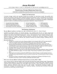 marketing executive resume executive resume sles jk global marketing executive page1