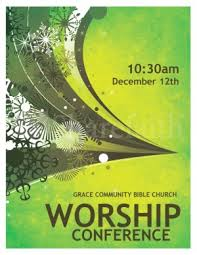 free religious music flyer templates worship conference flyer