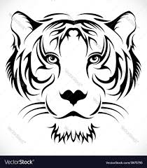 tribal tiger royalty free vector image vectorstock
