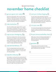 checklist november via apartment therapy cleaning u0026 maintenance