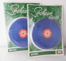 sasheen ribbon vintage 3m sasheen ribbon sealed rolls 600ft 3 4 blue mip ebay