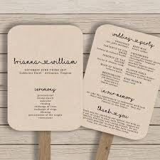 fan program wedding fan program template rustic wedding fan printable you
