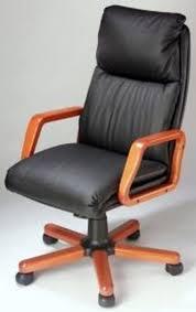 fauteuil bureau cuir bois chaise de bureau cuir et bois siege de bureau cuir eyebuy