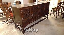Oak Buffet Server Sideboard Jacobean Style Antique Carved Oak Buffet Dining Room Server Sideboard