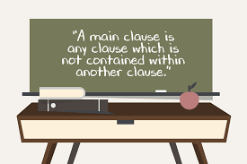 main clause definition and examples in english grammar