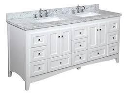 72 Inch White Bathroom Vanity by Buy Abbey 72 Inch Double Bathroom Vanity Carrara White Includes